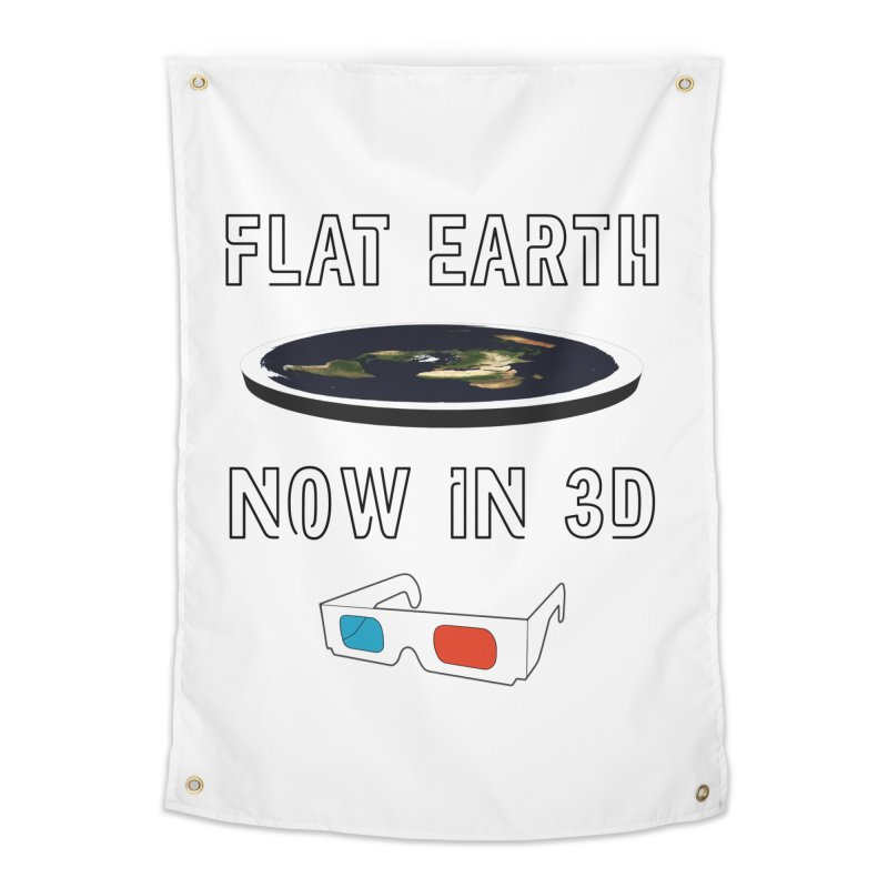 Flat Earth Now In 3D Home Tapestry by MaroDek's Artist Shop