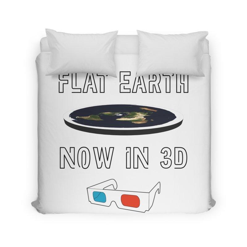 Flat Earth Now In 3D Home Duvet by MaroDek's Artist Shop