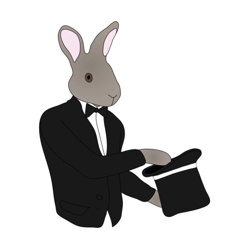 Rabbit Magician Accessories Magnet by MaroDek's Artist Shop