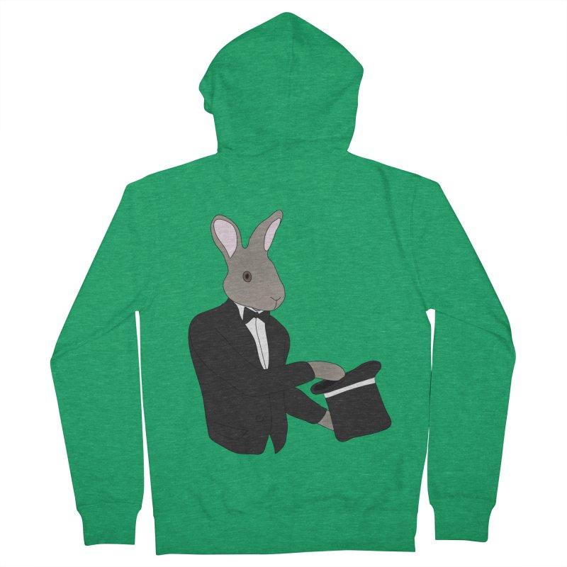 Rabbit Magician Men's Zip-Up Hoody by MaroDek's Artist Shop