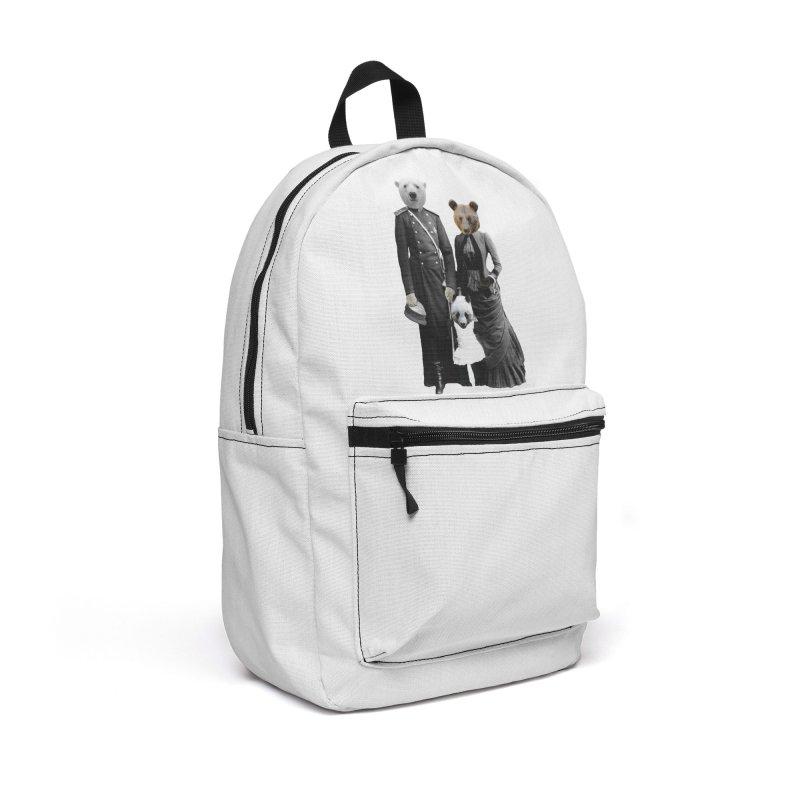 Bear Family Portrait Accessories Bag by MaroDek's Artist Shop