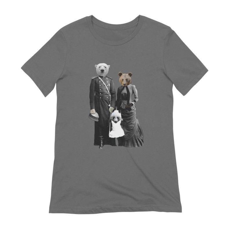 Bear Family Portrait Women's T-Shirt by MaroDek's Artist Shop