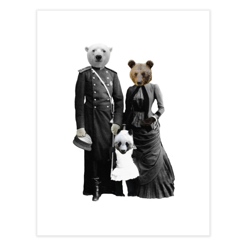 Bear Family Portrait Home Fine Art Print by MaroDek's Artist Shop