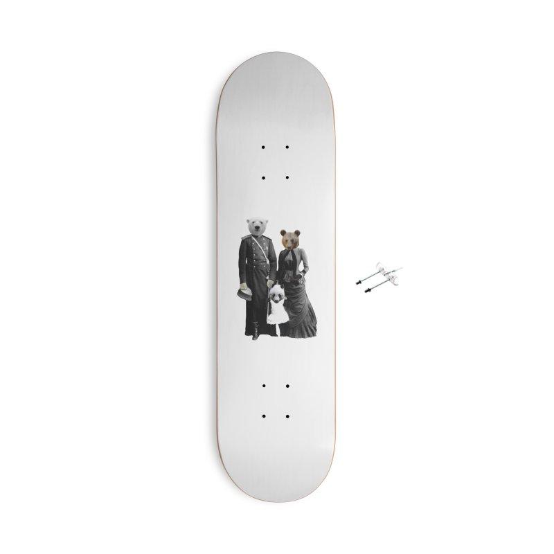 Bear Family Portrait Accessories Skateboard by MaroDek's Artist Shop