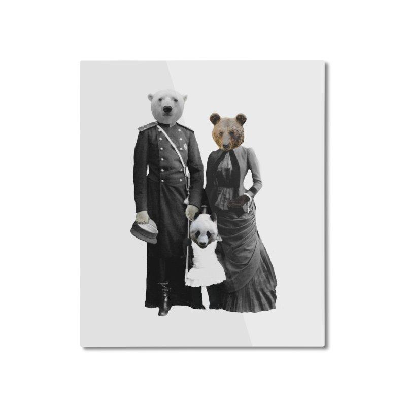Bear Family Portrait Home Mounted Aluminum Print by MaroDek's Artist Shop