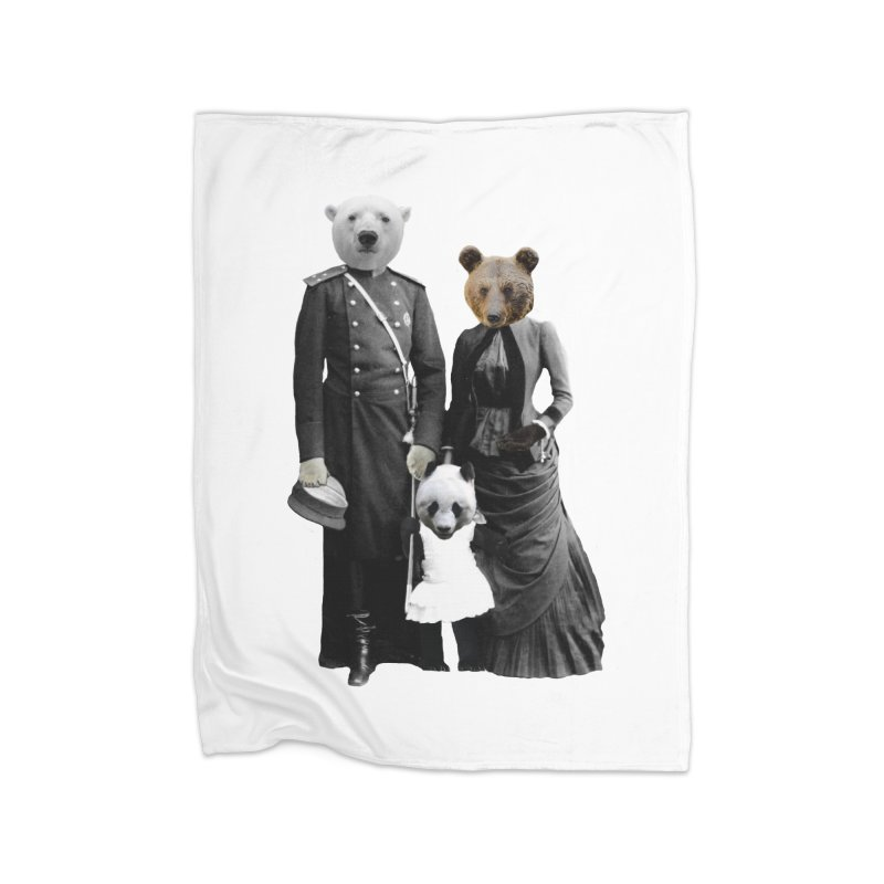 Bear Family Portrait Home Blanket by MaroDek's Artist Shop