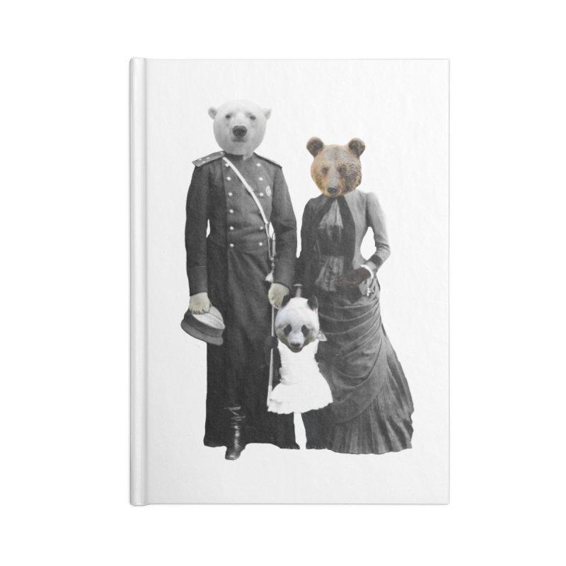 Bear Family Portrait Accessories Notebook by MaroDek's Artist Shop