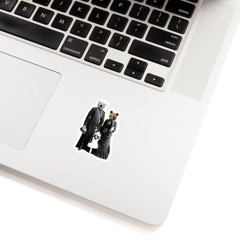 Bear Family Portrait Accessories Sticker by MaroDek's Artist Shop