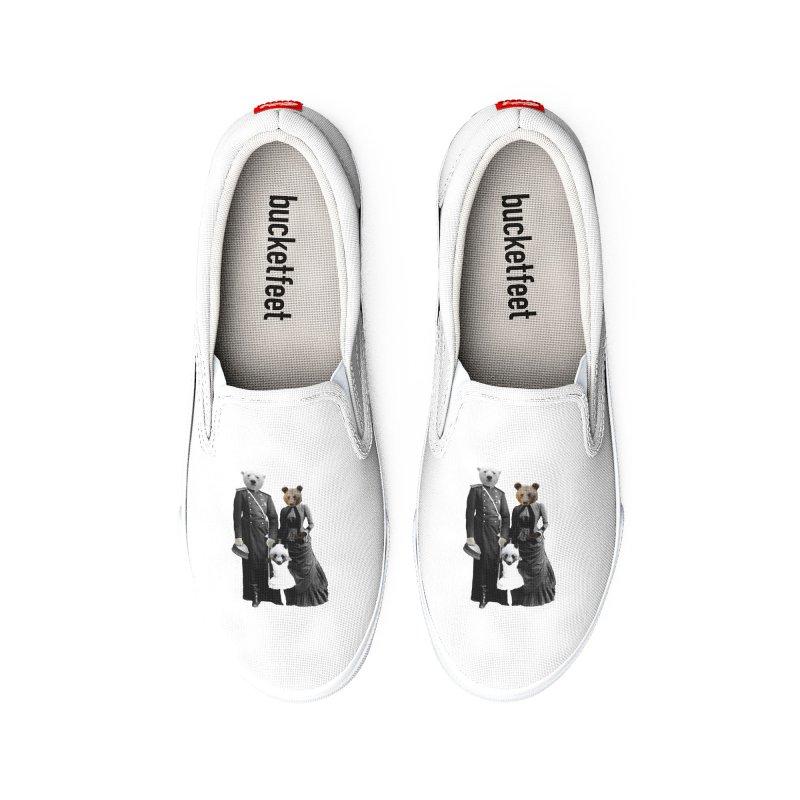 Bear Family Portrait Women's Shoes by MaroDek's Artist Shop