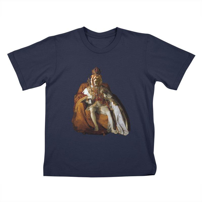 King Lion Kids T-Shirt by MaroDek's Artist Shop