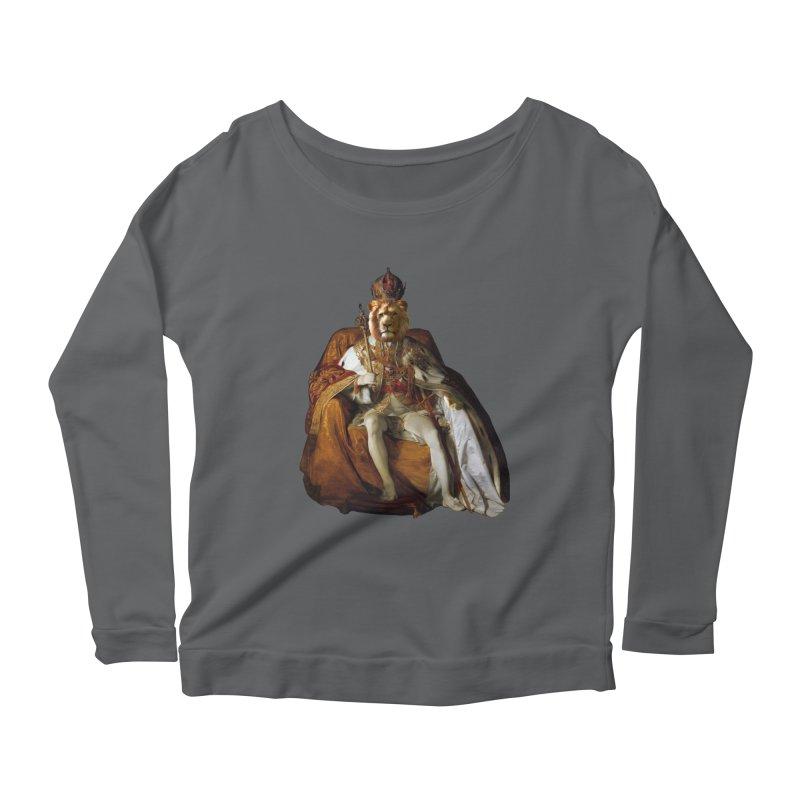 King Lion Women's Longsleeve T-Shirt by MaroDek's Artist Shop