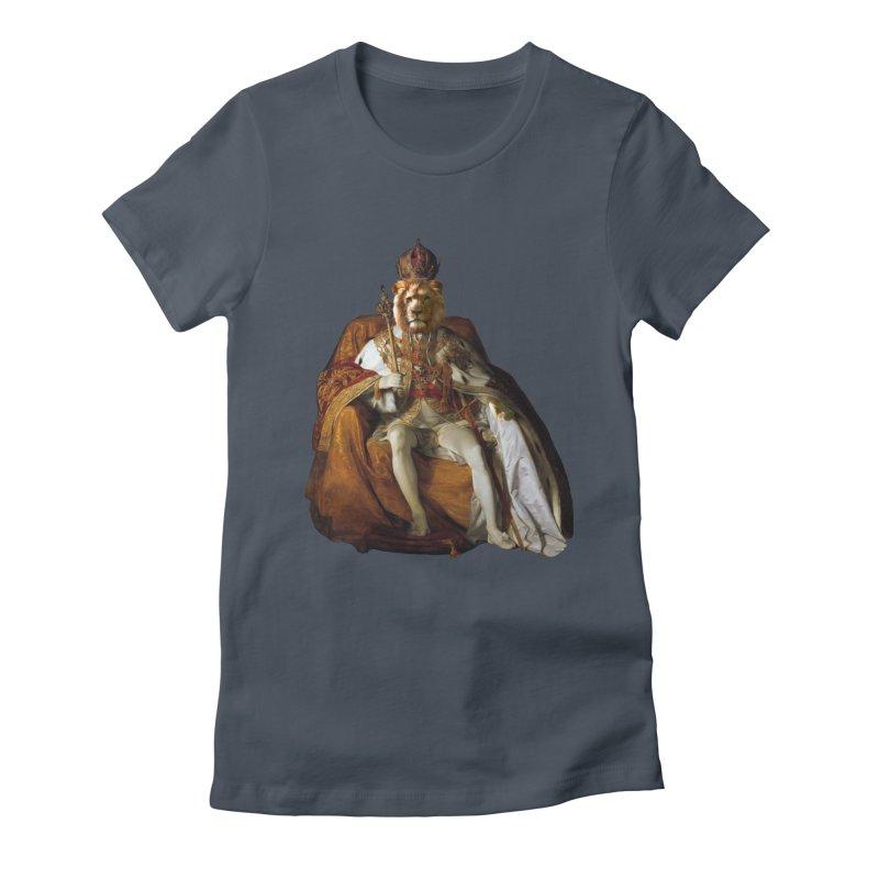 King Lion Women's T-Shirt by MaroDek's Artist Shop