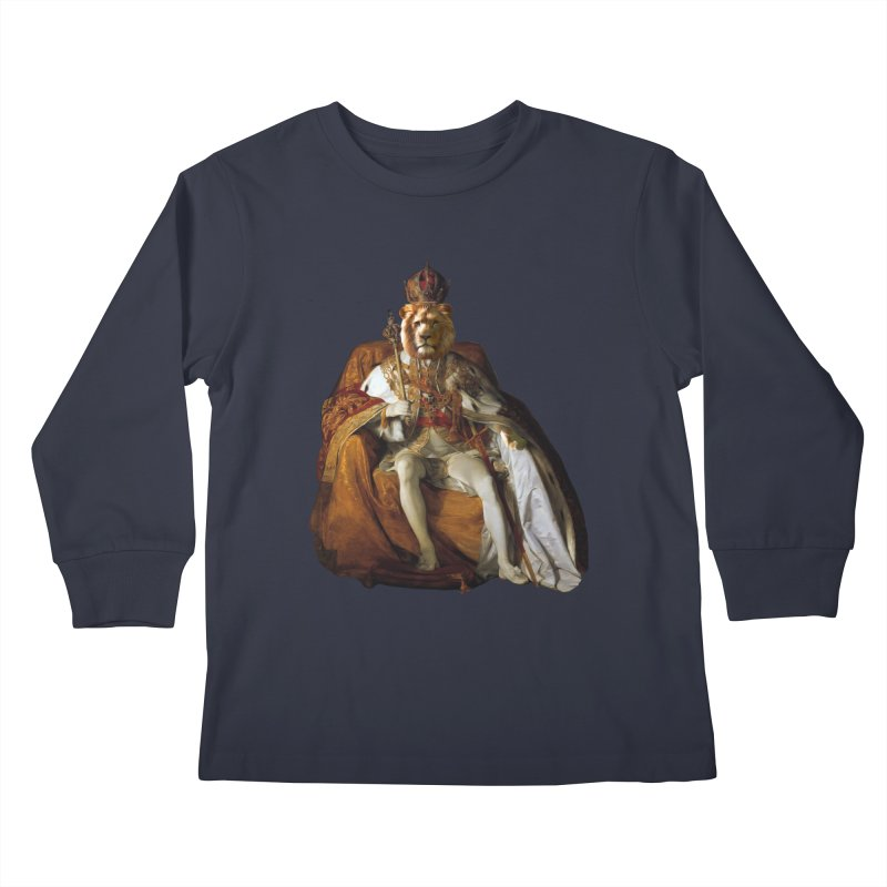 King Lion Kids Longsleeve T-Shirt by MaroDek's Artist Shop