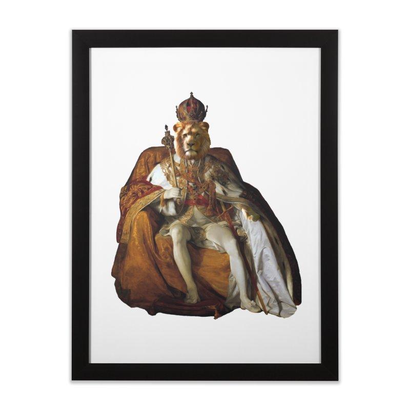 King Lion Home Framed Fine Art Print by MaroDek's Artist Shop