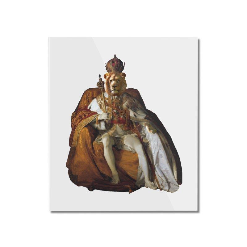 King Lion Home Mounted Acrylic Print by MaroDek's Artist Shop