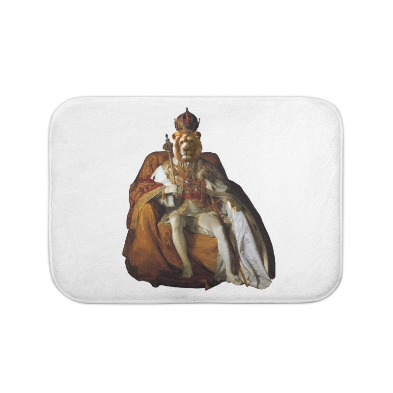 King Lion Home Bath Mat by MaroDek's Artist Shop