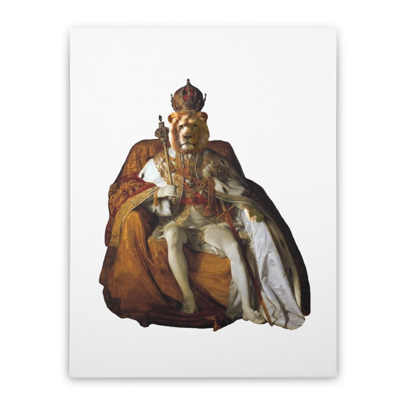 King Lion Home Stretched Canvas by MaroDek's Artist Shop