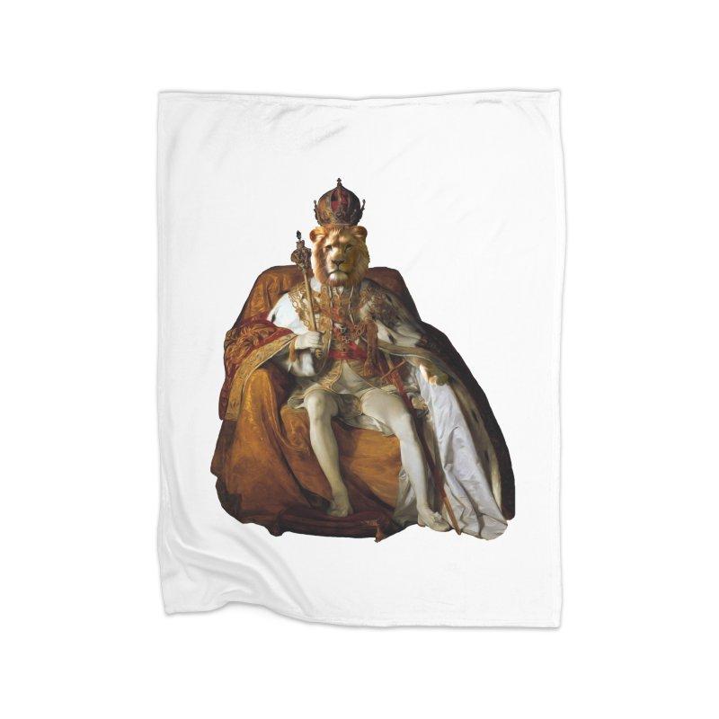 King Lion Home Blanket by MaroDek's Artist Shop