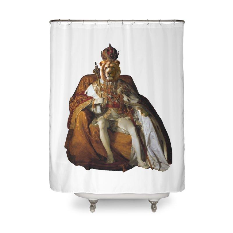 King Lion Home Shower Curtain by MaroDek's Artist Shop