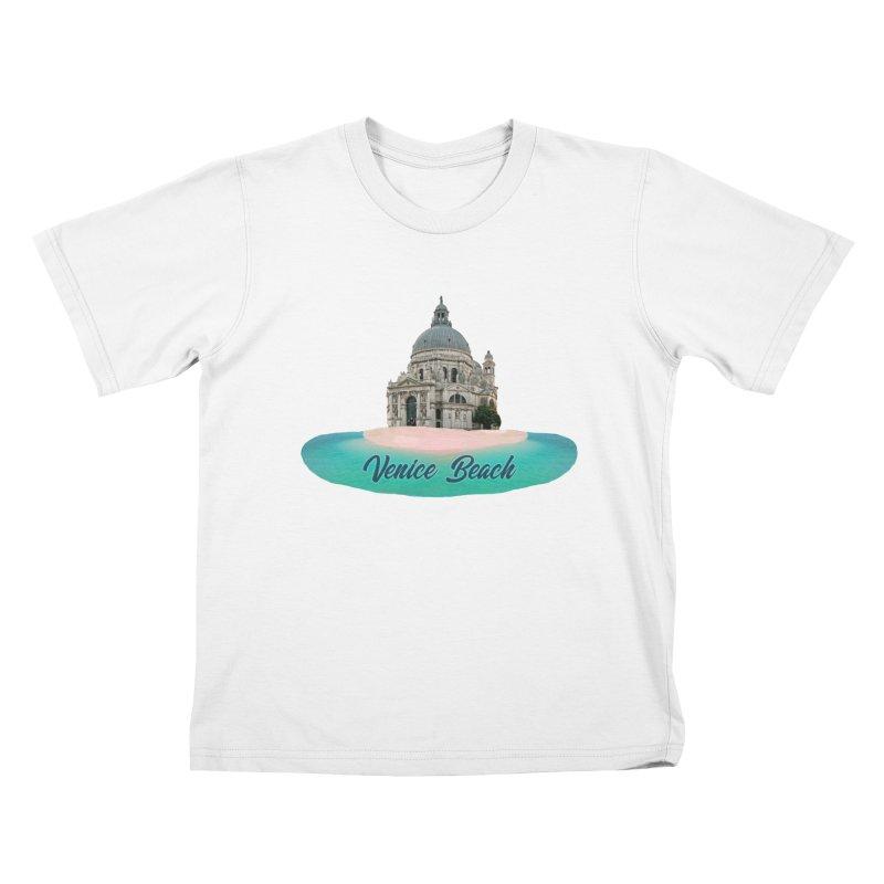 Venice Beach Kids T-Shirt by MaroDek's Artist Shop