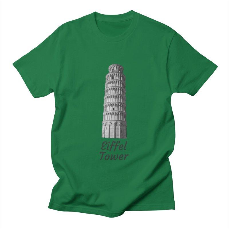 Eiffel Tower of Pisa Men's T-Shirt by MaroDek's Artist Shop