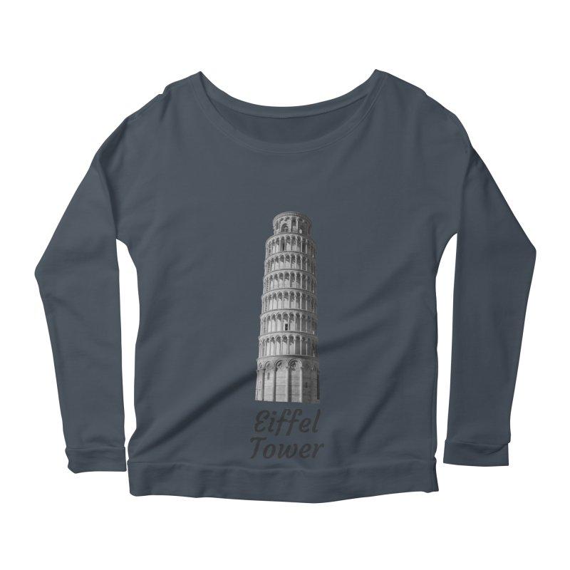 Eiffel Tower of Pisa Women's Longsleeve T-Shirt by MaroDek's Artist Shop