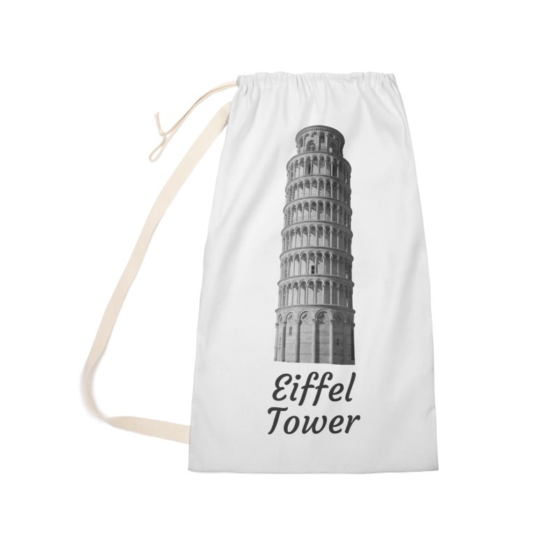 Eiffel Tower of Pisa Accessories Bag by MaroDek's Artist Shop
