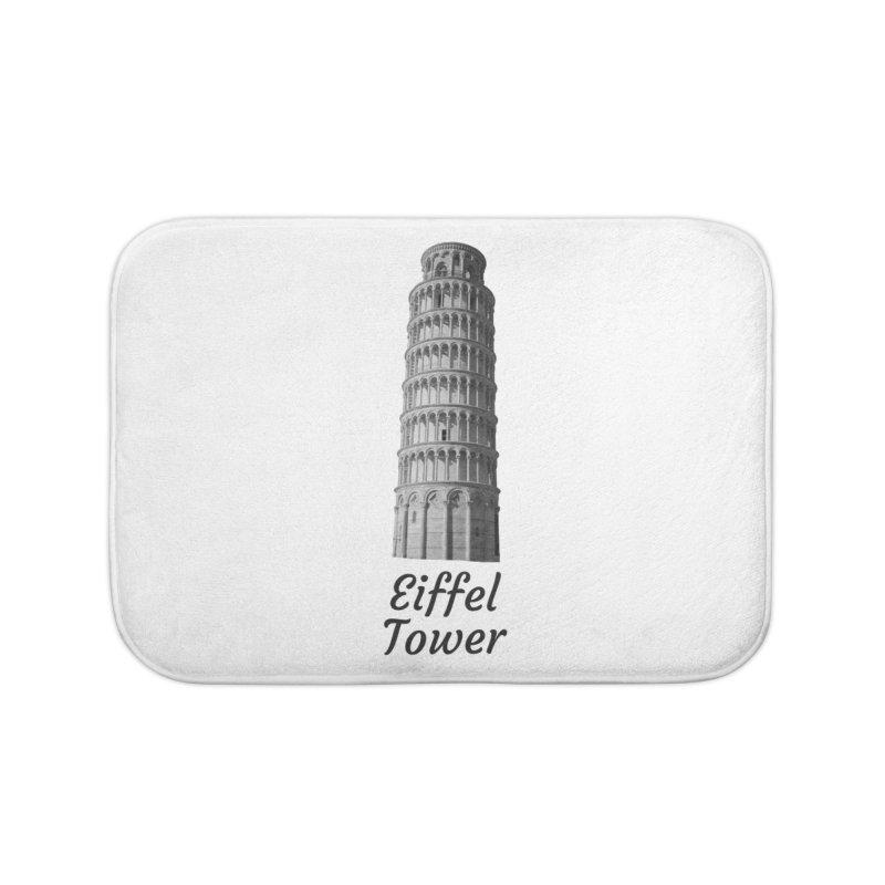 Eiffel Tower of Pisa Home Bath Mat by MaroDek's Artist Shop