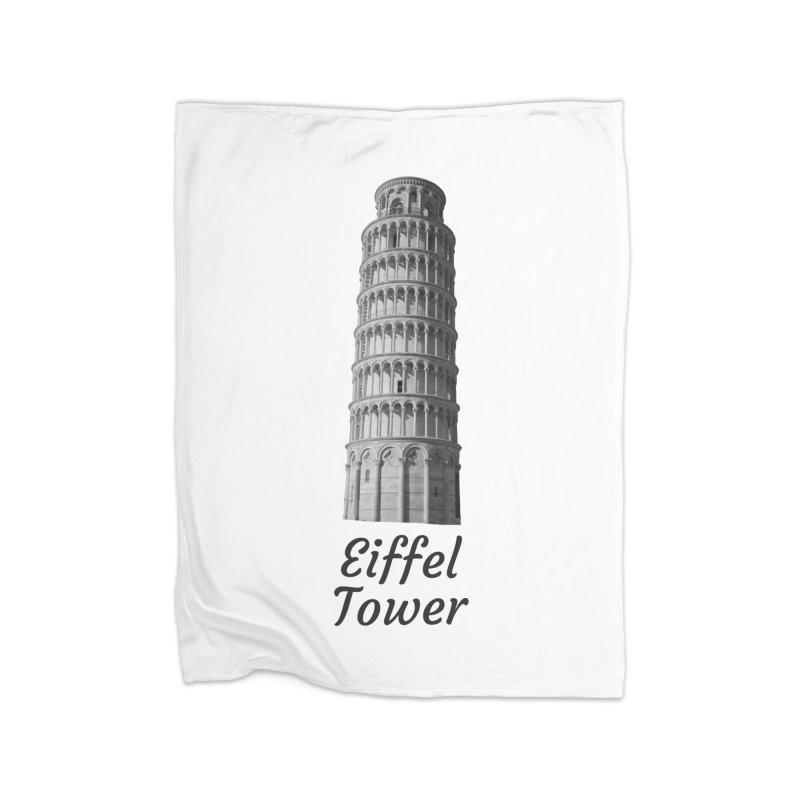 Eiffel Tower of Pisa Home Blanket by MaroDek's Artist Shop