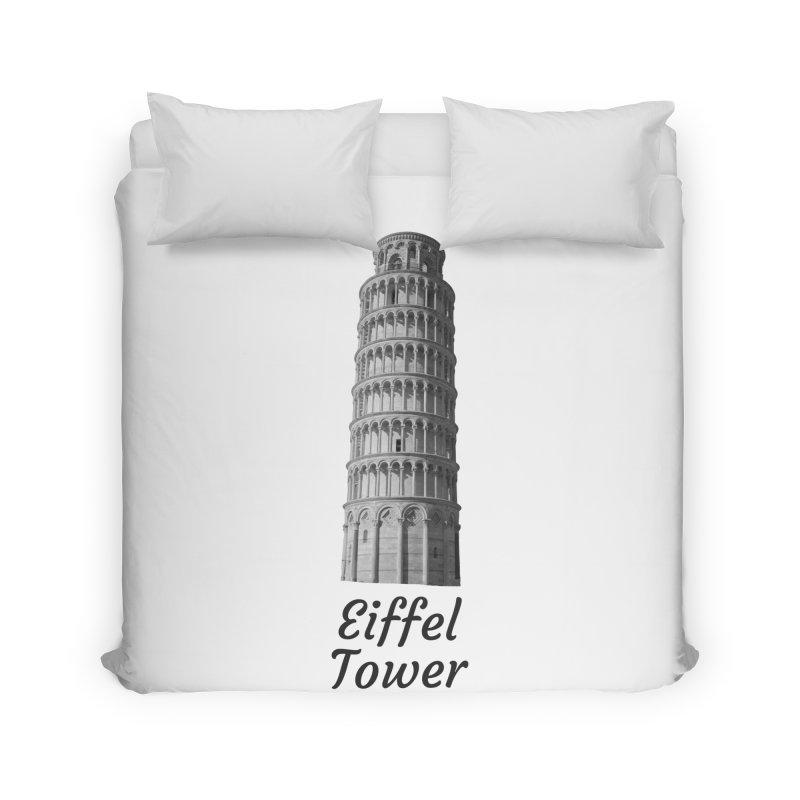 Eiffel Tower of Pisa Home Duvet by MaroDek's Artist Shop