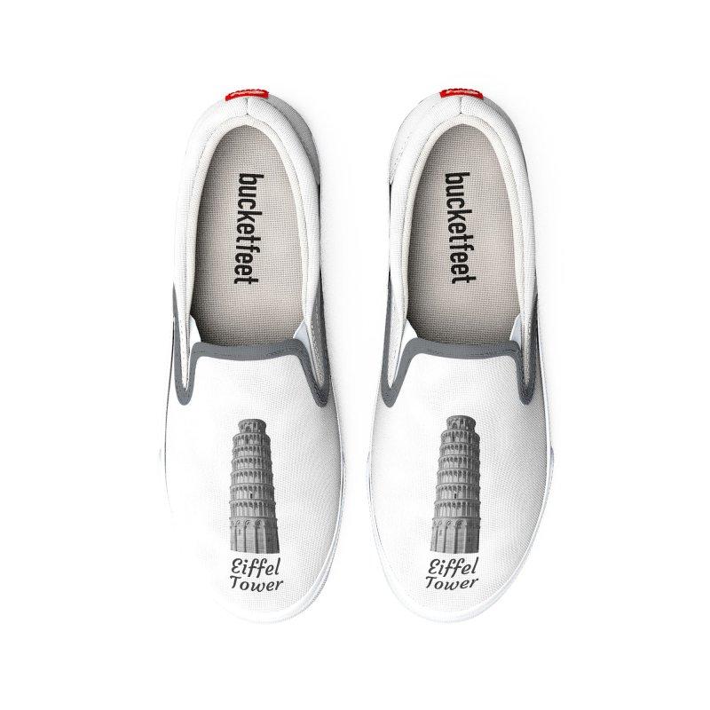 Eiffel Tower of Pisa Women's Shoes by MaroDek's Artist Shop