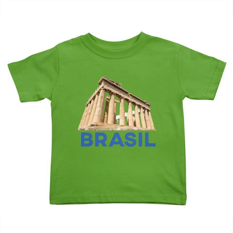 Brasil Parthenon Kids Toddler T-Shirt by MaroDek's Artist Shop