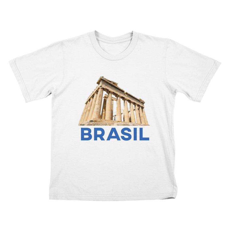 Brasil Parthenon Kids T-Shirt by MaroDek's Artist Shop