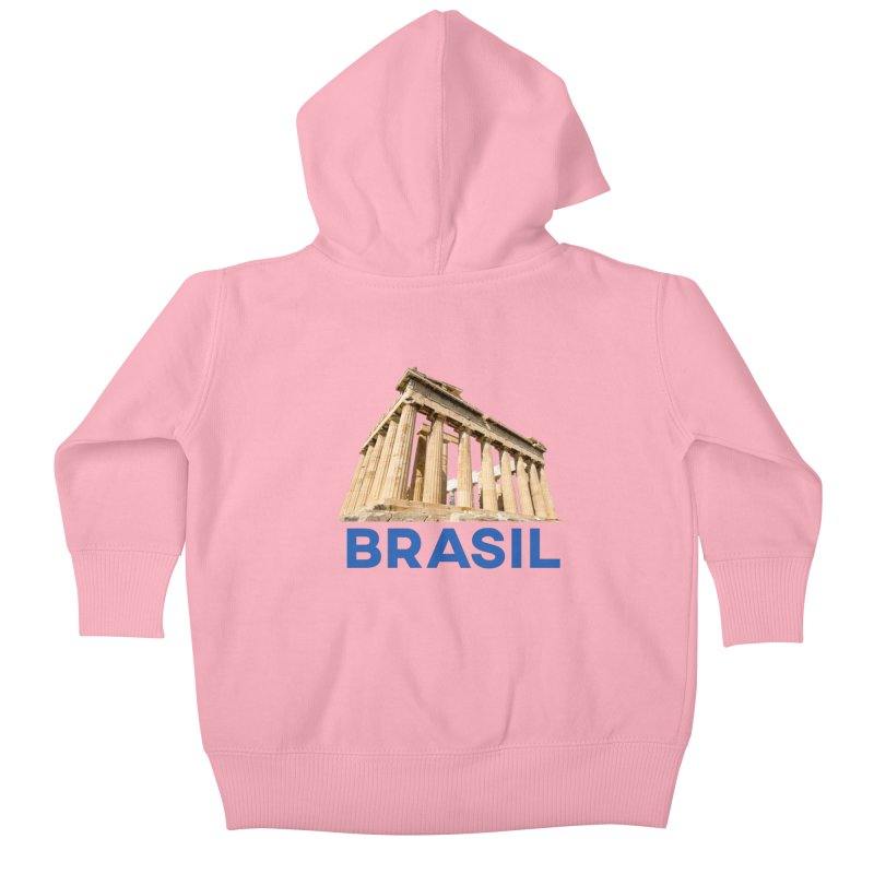 Brasil Parthenon Kids Baby Zip-Up Hoody by MaroDek's Artist Shop