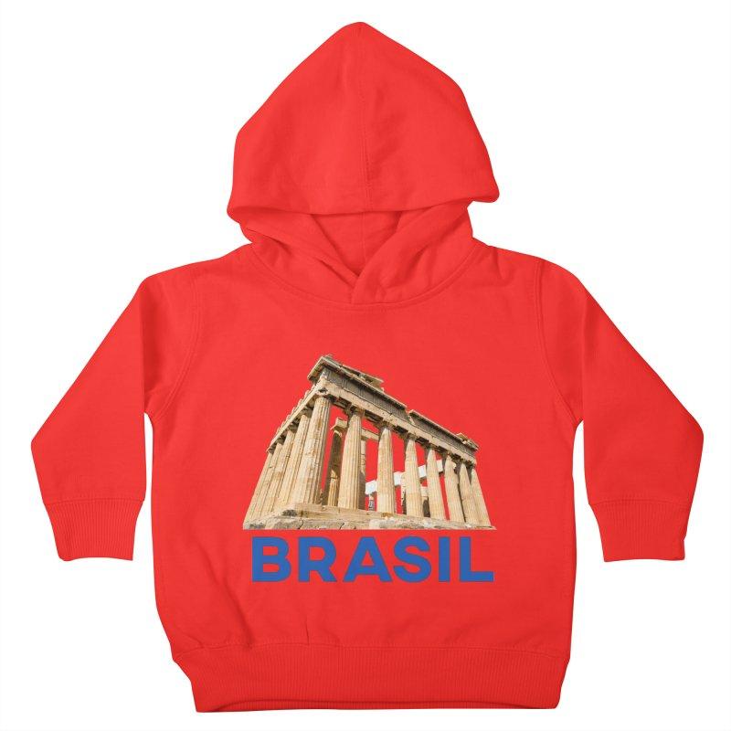 Brasil Parthenon Kids Toddler Pullover Hoody by MaroDek's Artist Shop