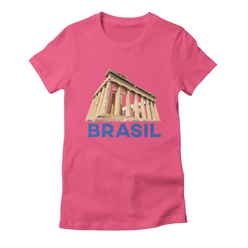 Brasil Parthenon Women's T-Shirt by MaroDek's Artist Shop