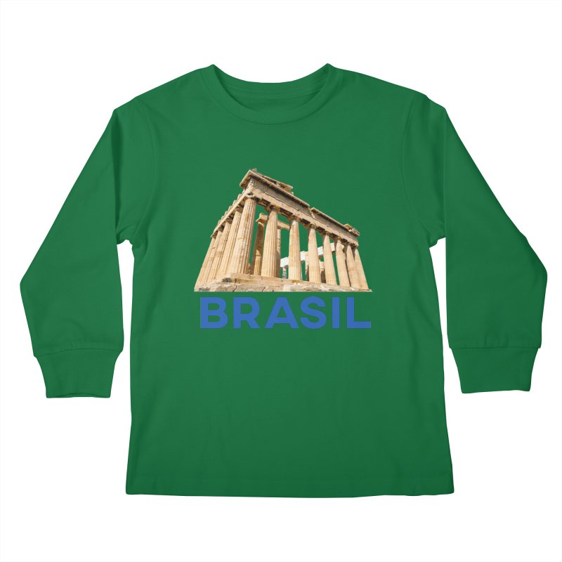 Brasil Parthenon Kids Longsleeve T-Shirt by MaroDek's Artist Shop