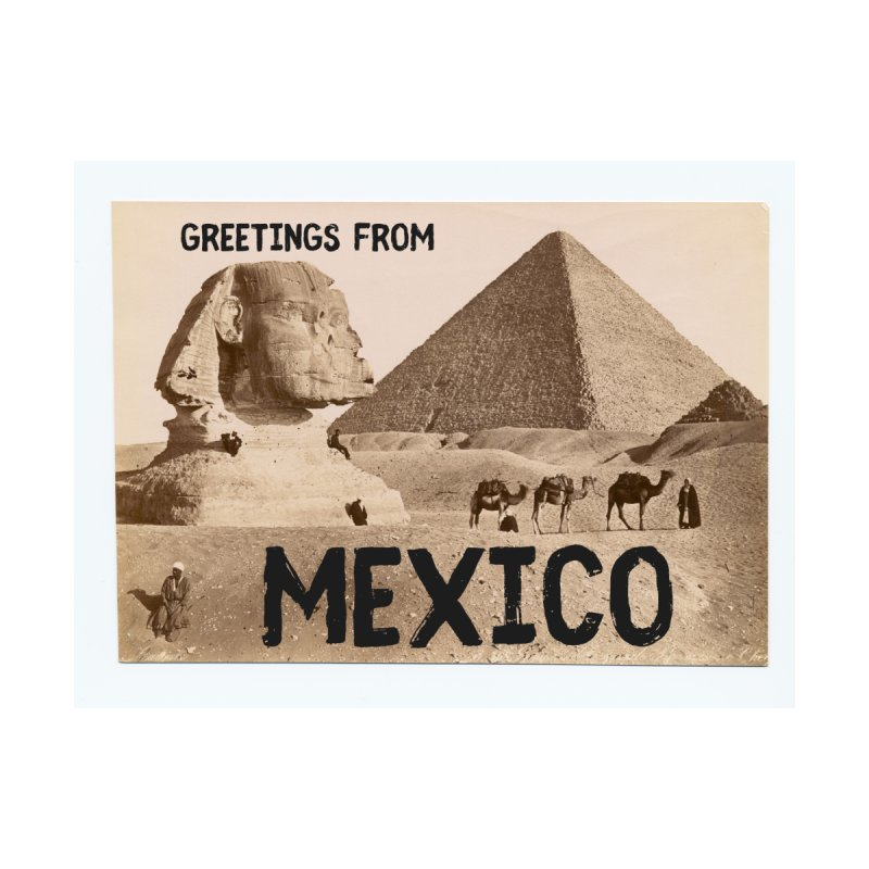 Greetings From Gizah Mexico Accessories Magnet by MaroDek's Artist Shop