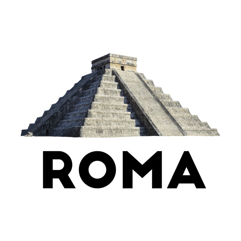 Mayan Pyramid of Rome Home Bath Mat by MaroDek's Artist Shop
