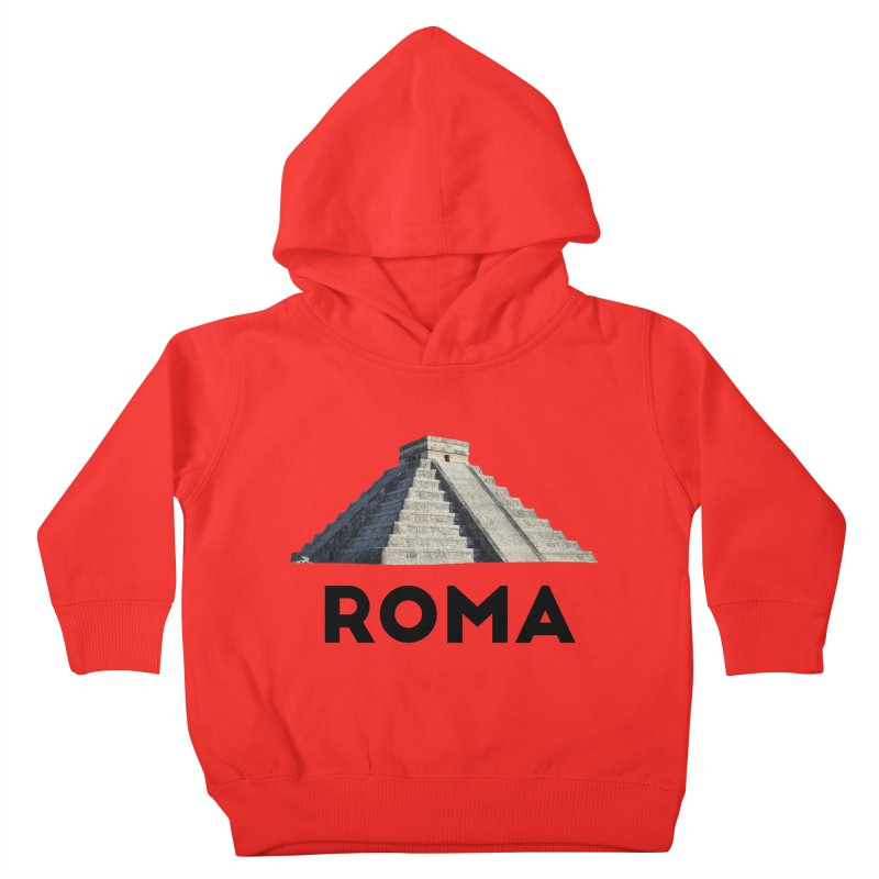 Mayan Pyramid of Rome Kids Toddler Pullover Hoody by MaroDek's Artist Shop