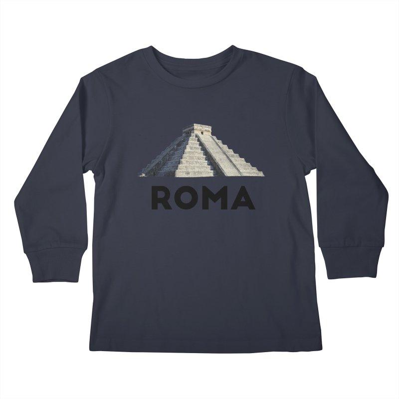 Mayan Pyramid of Rome Kids Longsleeve T-Shirt by MaroDek's Artist Shop