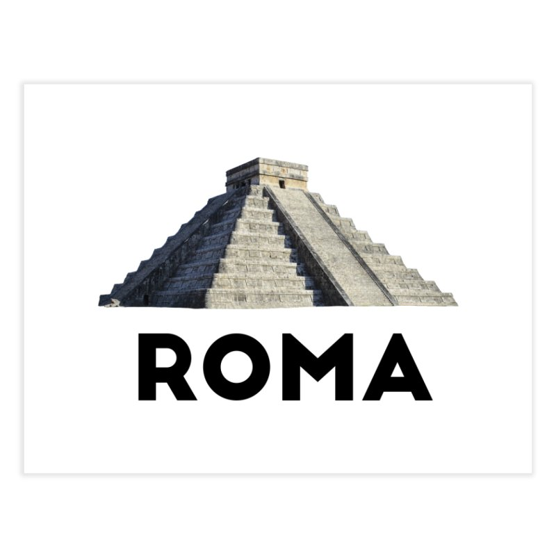 Mayan Pyramid of Rome Home Fine Art Print by MaroDek's Artist Shop