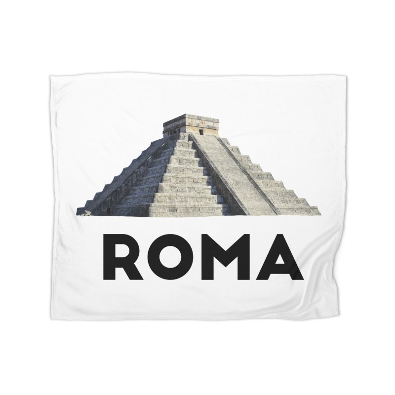 Mayan Pyramid of Rome Home Blanket by MaroDek's Artist Shop
