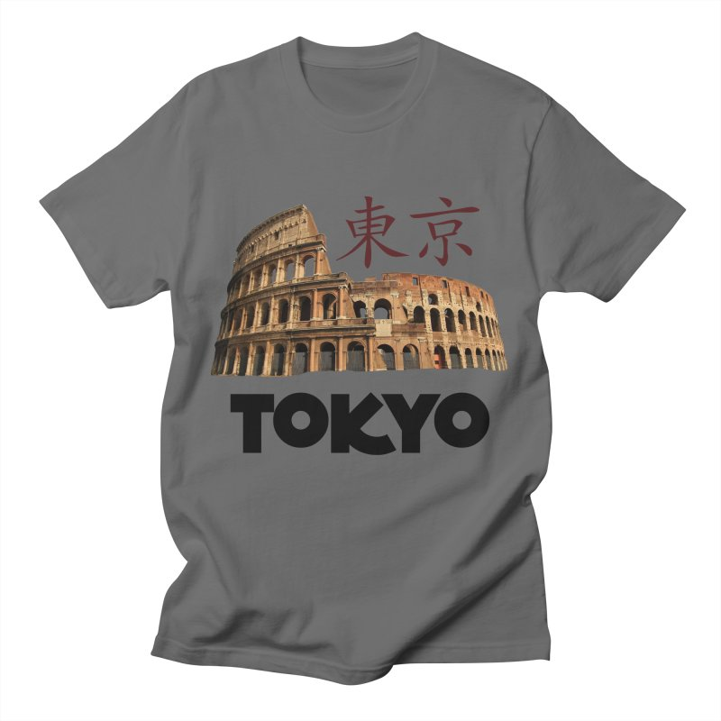 Tokyo Coliseum Men's T-Shirt by MaroDek's Artist Shop