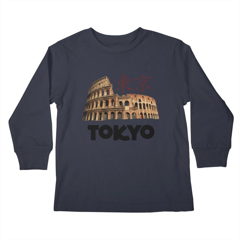 Tokyo Coliseum Kids Longsleeve T-Shirt by MaroDek's Artist Shop