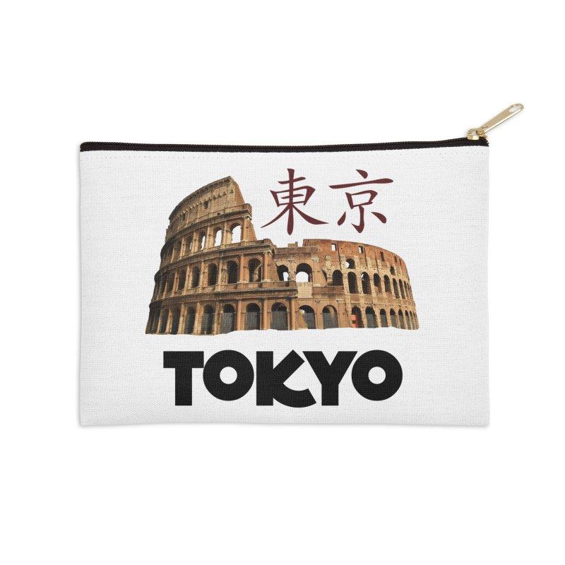 Tokyo Coliseum Accessories Zip Pouch by MaroDek's Artist Shop