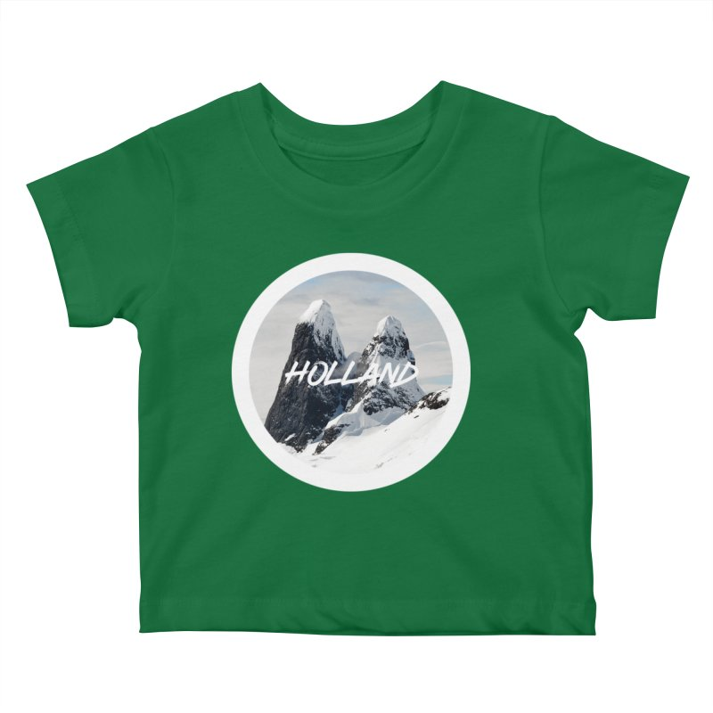 Holland Mountains Kids Baby T-Shirt by MaroDek's Artist Shop