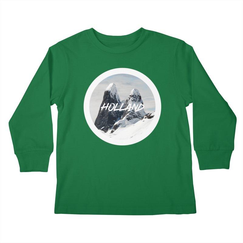 Holland Mountains Kids Longsleeve T-Shirt by MaroDek's Artist Shop