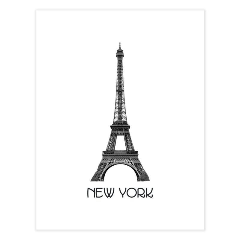 New York Eiffel Tower Home Fine Art Print by MaroDek's Artist Shop