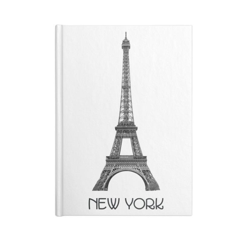 New York Eiffel Tower Accessories Notebook by MaroDek's Artist Shop